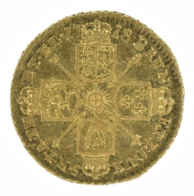 Lot 35 - King George I, Quarter-Guinea, 1718.