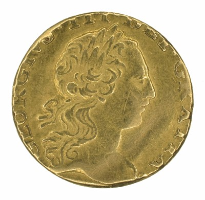 Lot 44 - King George III, Quarter-Guinea, 1762.