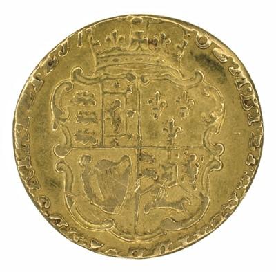 Lot 44 - King George III, Quarter-Guinea, 1762.