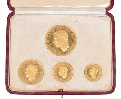 Lot 86 - A George VI 1937 Gold Proof Four Coin Specimen Set.