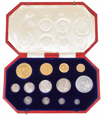 Lot 85 - Edward VII 1902 Coronation thirteen-coin specimen set.