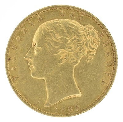 Lot 66 - Queen Victoria, Sovereign, 1866.