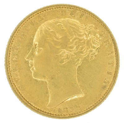 Lot 62 - Queen Victoria, Sovereign, 1852.