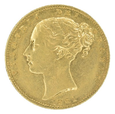 Lot 65 - Queen Victoria, Sovereign, 1861.