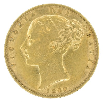 Lot 64 - Queen Victoria, Sovereign, 1860