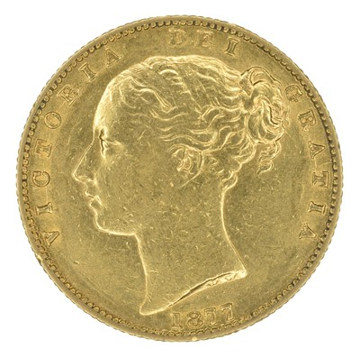 Lot 68 - Queen Victoria, Sovereign, 1877, Sydney Mint.