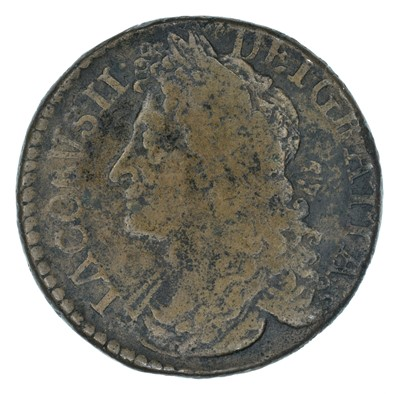 Lot 15 - Ireland, James II, 'Gunmoney' coinage, Halfcrown and Shilling (2).
