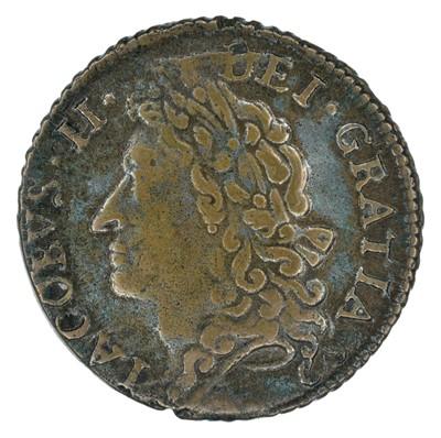 Lot 15 - Ireland, James II, 'Gunmoney' coinage, Halfcrown and Shilling (2).