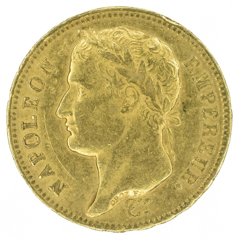 Lot 92 - France, Napoleon I, 40 Francs, 1811, gold.