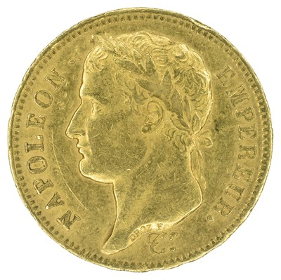 Lot 92 - France, Napoleon I, 40 Francs, 1811, gold.