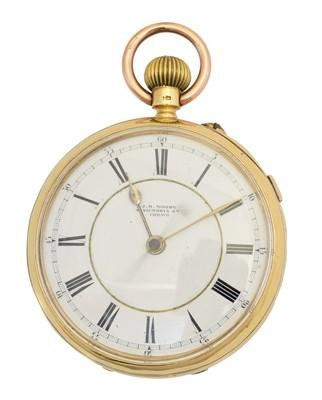Lot 151 - An 18ct gold open face pocket watch