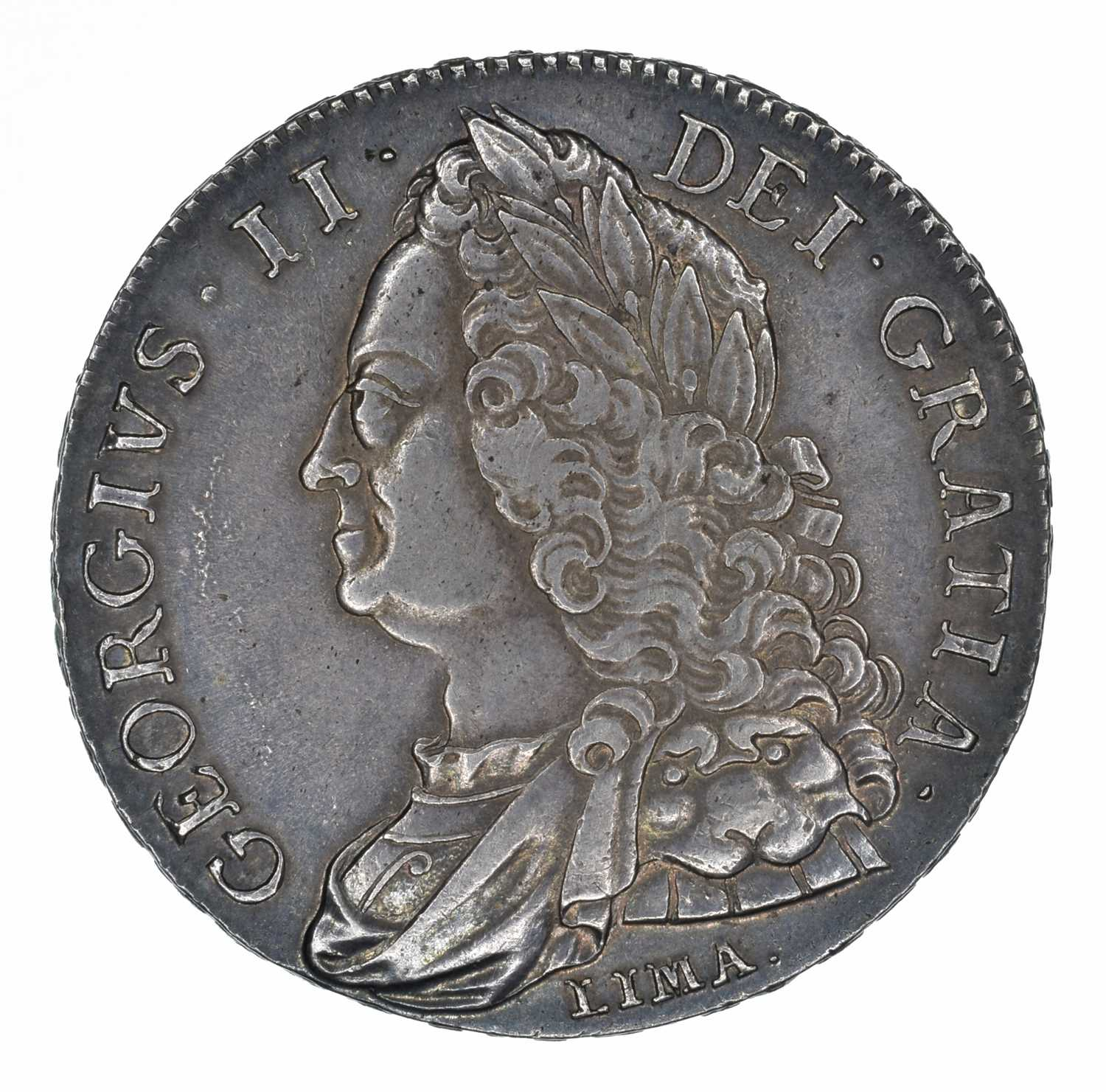 Lot 41 - King George II, Crown, 1746 LIMA