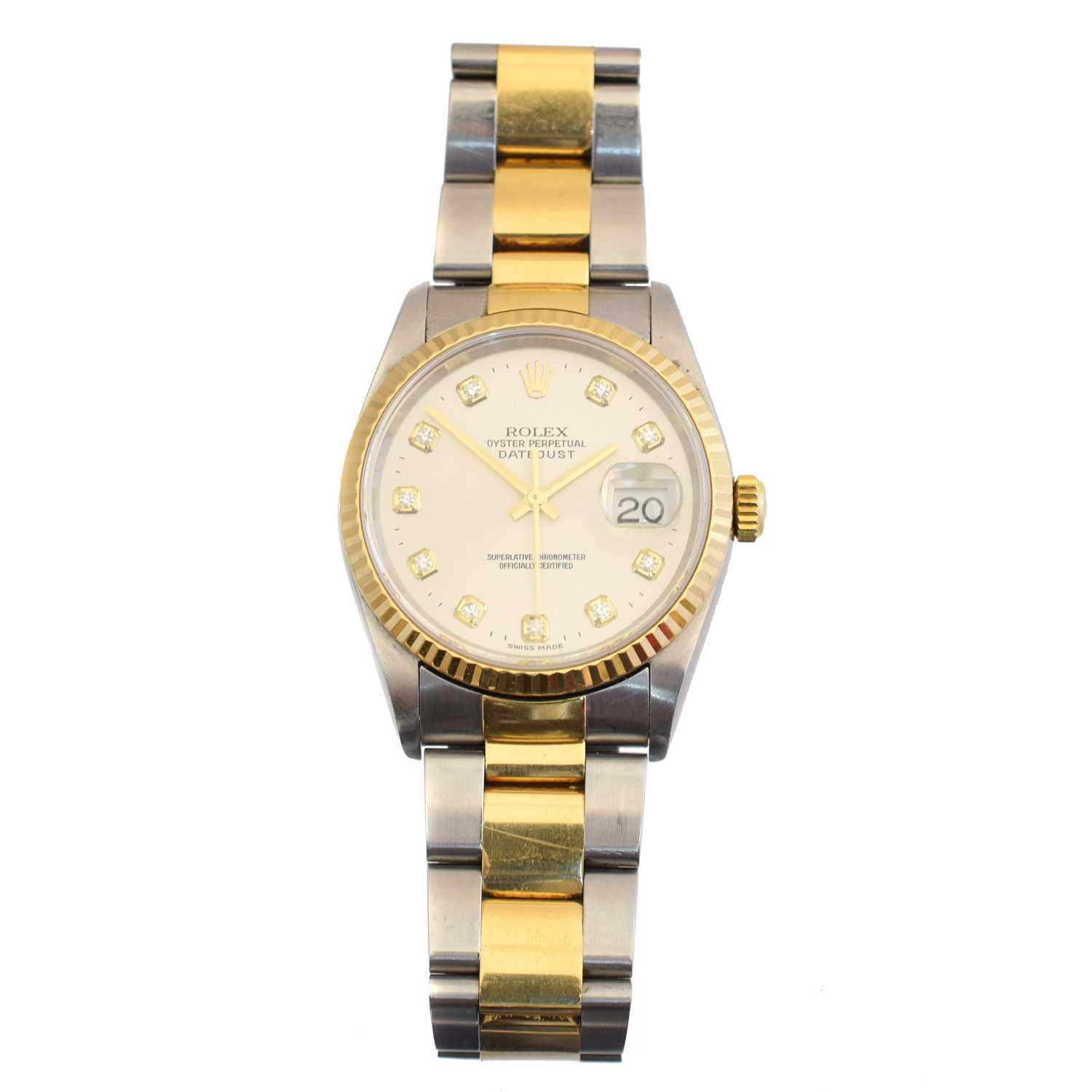 Lot A gents steel and gold Rolex Oyster Perpetual Datejust wristwatch