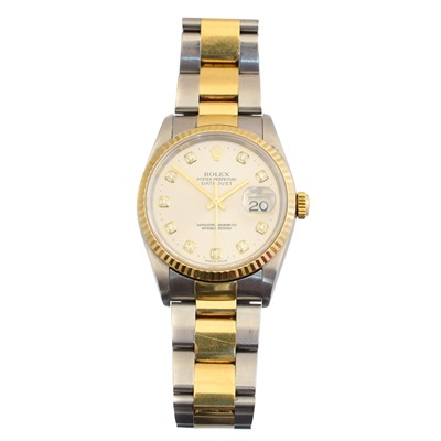 Lot 144 - A gents steel and gold Rolex Oyster Perpetual Datejust wristwatch