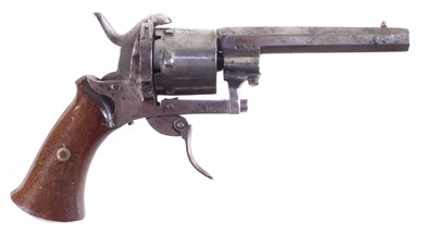 Lot 18 - Belgian 8mm pinfire revolver