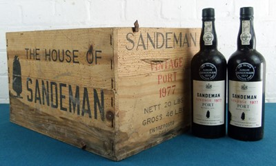 "Lot 36 - 9 Bottles ""The Silver Jubilee"" Sandeman Vintage Port Vintage 1977"