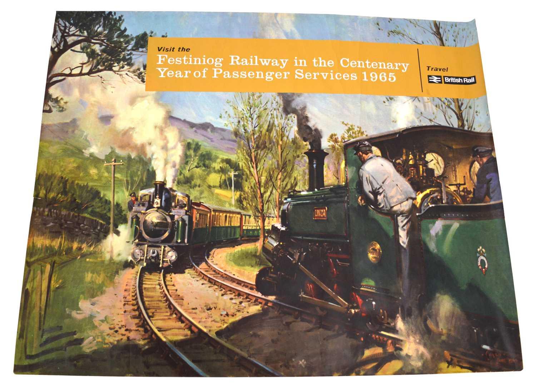 Lot Festiniog Railway 1965 Centenary Poster