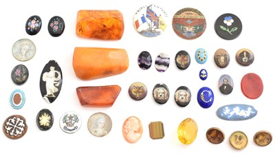 Lot 60 - A selection of loose gemstones and jewellery components