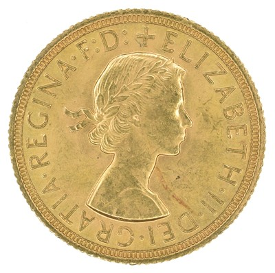 Lot 83 - Elizabeth II, Sovereign, 1958.