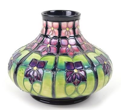 Lot 193 - Moorcroft Squat Vase, Violet Pattern