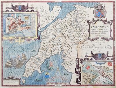 Lot 70 - John Speed, Map of Caernarvon.