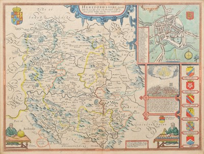 Lot 71 - John Speed, Map of Herefordshire.