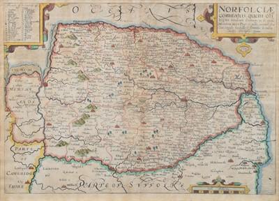 Lot 72 - Saxton-Kip, Map of Norfolk.