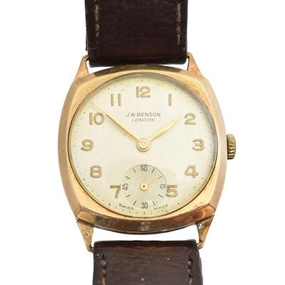 Lot 64 - A 9ct gold JW Benson watch