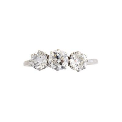 Lot A diamond three stone ring