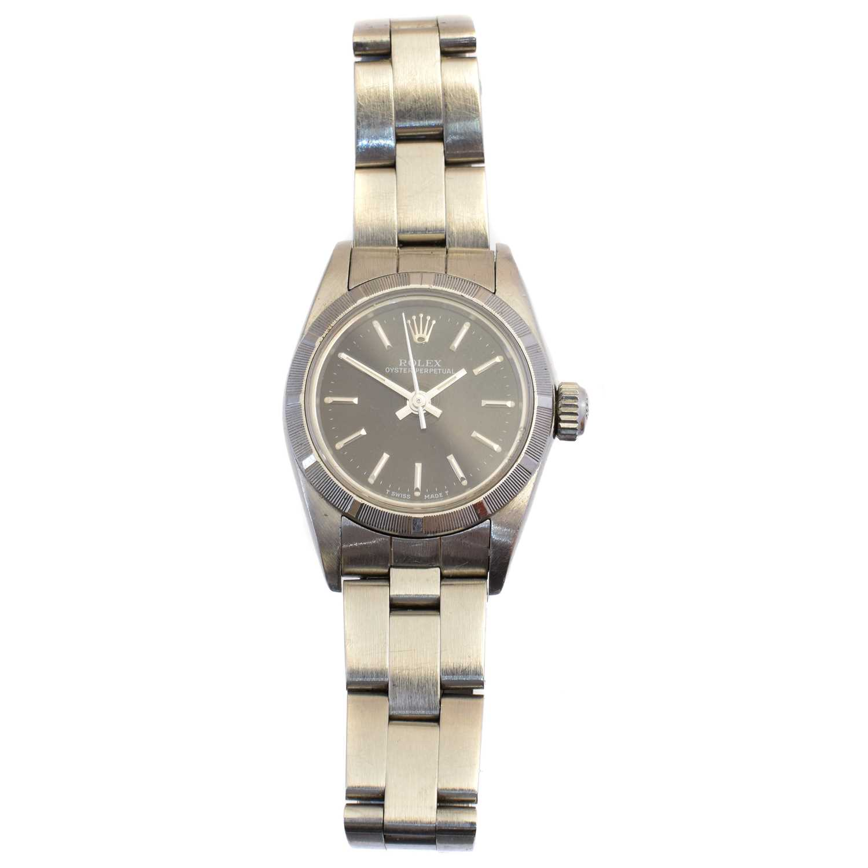 Lot A ladies steel Rolex Oyster Perpetual wristwatch