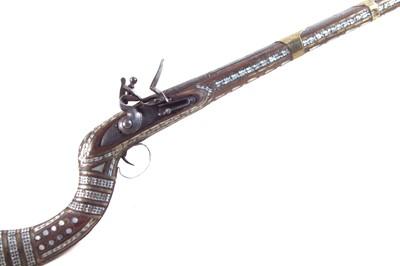 Lot 93 - Afghan flintlock Jezail