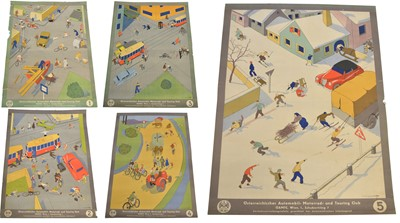 Lot 91 - Five Road Safety Posters