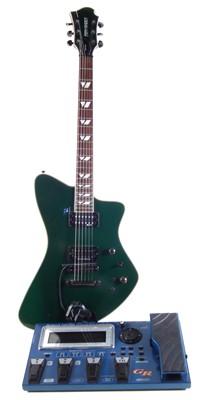 Lot Fernandes Vertigo and a Roland GR55 Guitar Synth combo