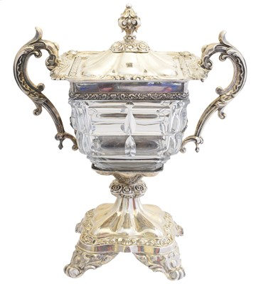 Lot A mid 19th Century French silver and crystal jam pot by Martial Fray