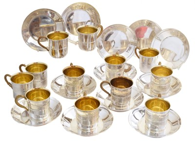Lot A twelve piece silver plated set by Christofle