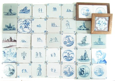 Lot Thirty five Delft tiles