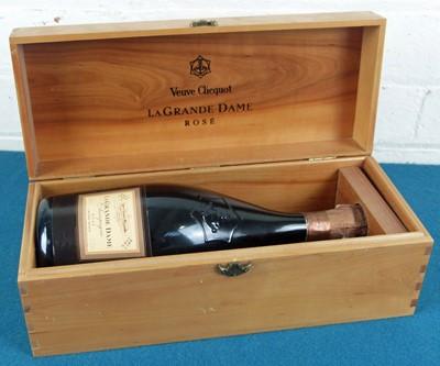 Lot 22 - 1 bottle Champagne Veuve Clicquot Grande Dame Brut Rose 1989