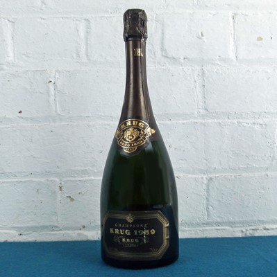 Lot 26 - 1 bottle Champagne Krug Vintage 1989