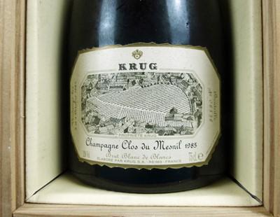 Lot 27 - 1 bottle Champagne Krug 'Clos du Mesnil' Vintage 1985