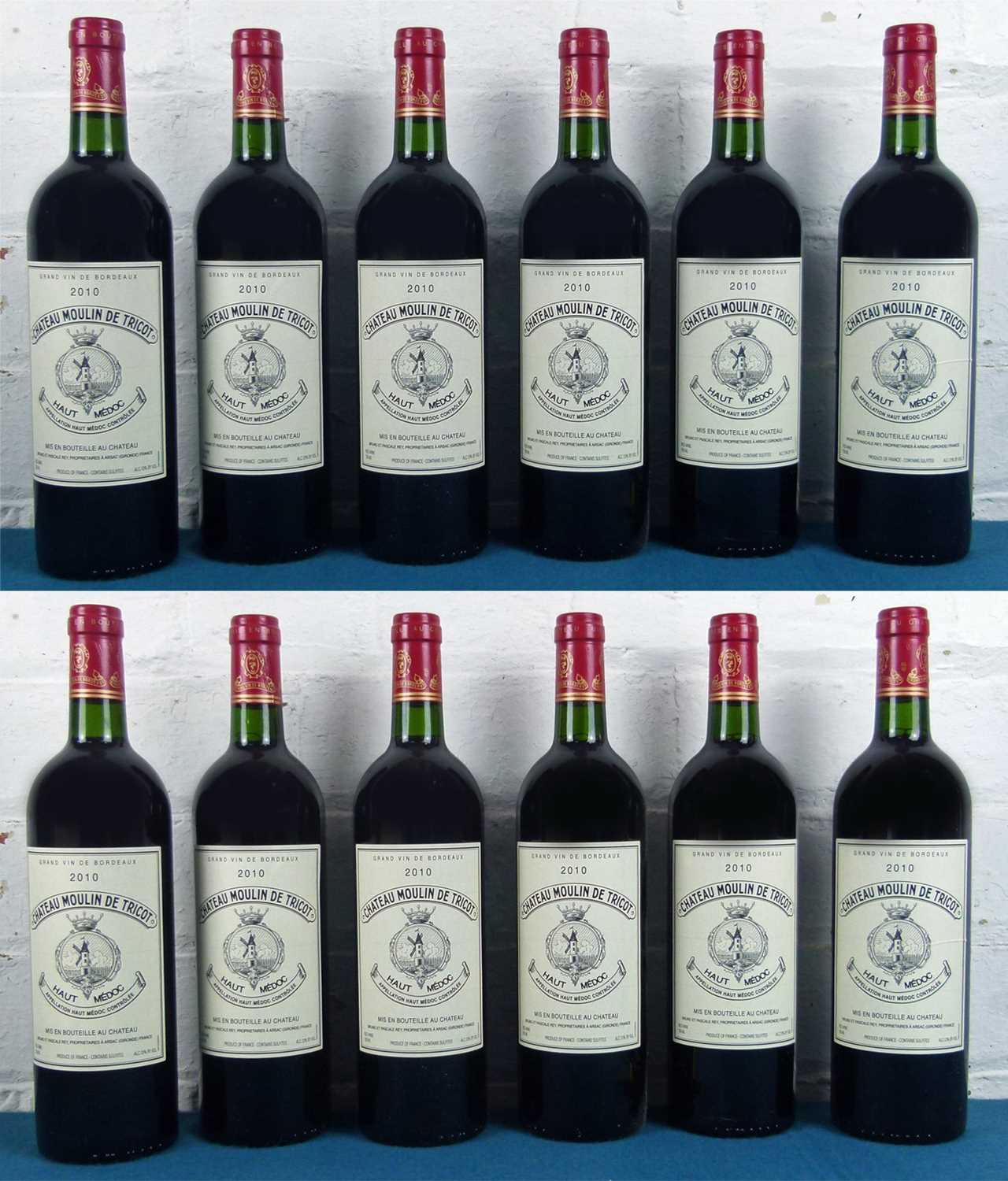 Lot 3 - 12 Bottles (in OC) Chateau Moulin de Tricot, Haut Medoc 2010