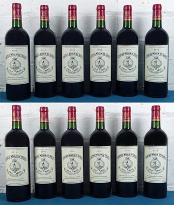 Lot 5 - 12 Bottles (in OC) Chateau Moulin de Tricot, Haut Medoc 2010