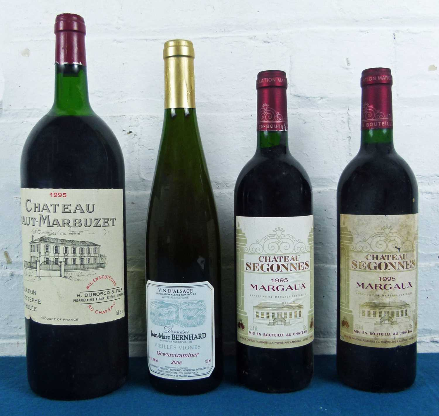 Lot 2 - 4 Bottles (including 1 magnum) Mixed Lot of Fine mature claret and Alsace
