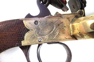 Lot 4 - Flintlock Duck's Foot pistol