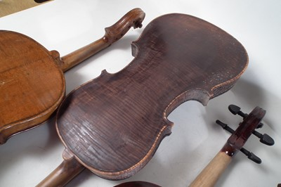 Lot 18 - Four violins and a viola