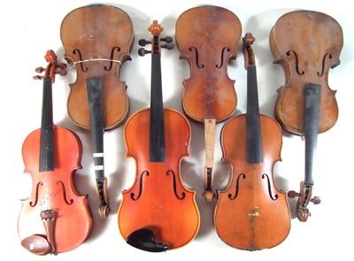 Lot 19 - Six violins