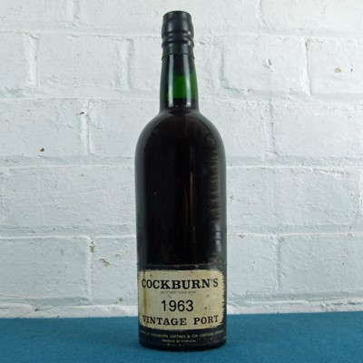 Lot 34 - 1 Bottle Cockburn's Vintage Port 1963 (i/n) UK bottled by Cockburn Smithies London