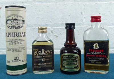 Lot 53 - 4 Rare Islay and Skye Whisky Miniature Bottles from 1970's / 80's