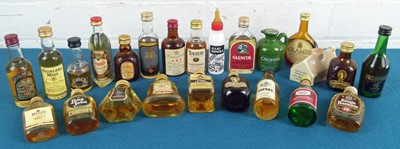Lot 54 - 24 Miniature Bottles Mixed Lot mainly Scotch Whisky from 1970's to 1990's
