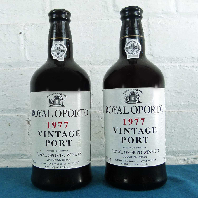 Lot 28 - 2 Bottles Royal Oporto Vintage Port 1977
