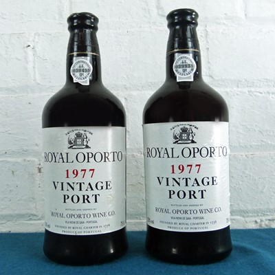 Lot 28 - 2 Bottles Royal Oporto Vintage Port 1977